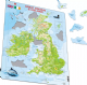 Physical Map of Great Britain and Ireland - Frame/Board Jigsaw Puzzle 29cm x 37cm (LRS  K5-GB)